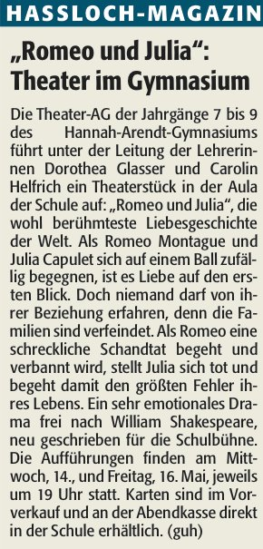 Romeo und Julia Theater