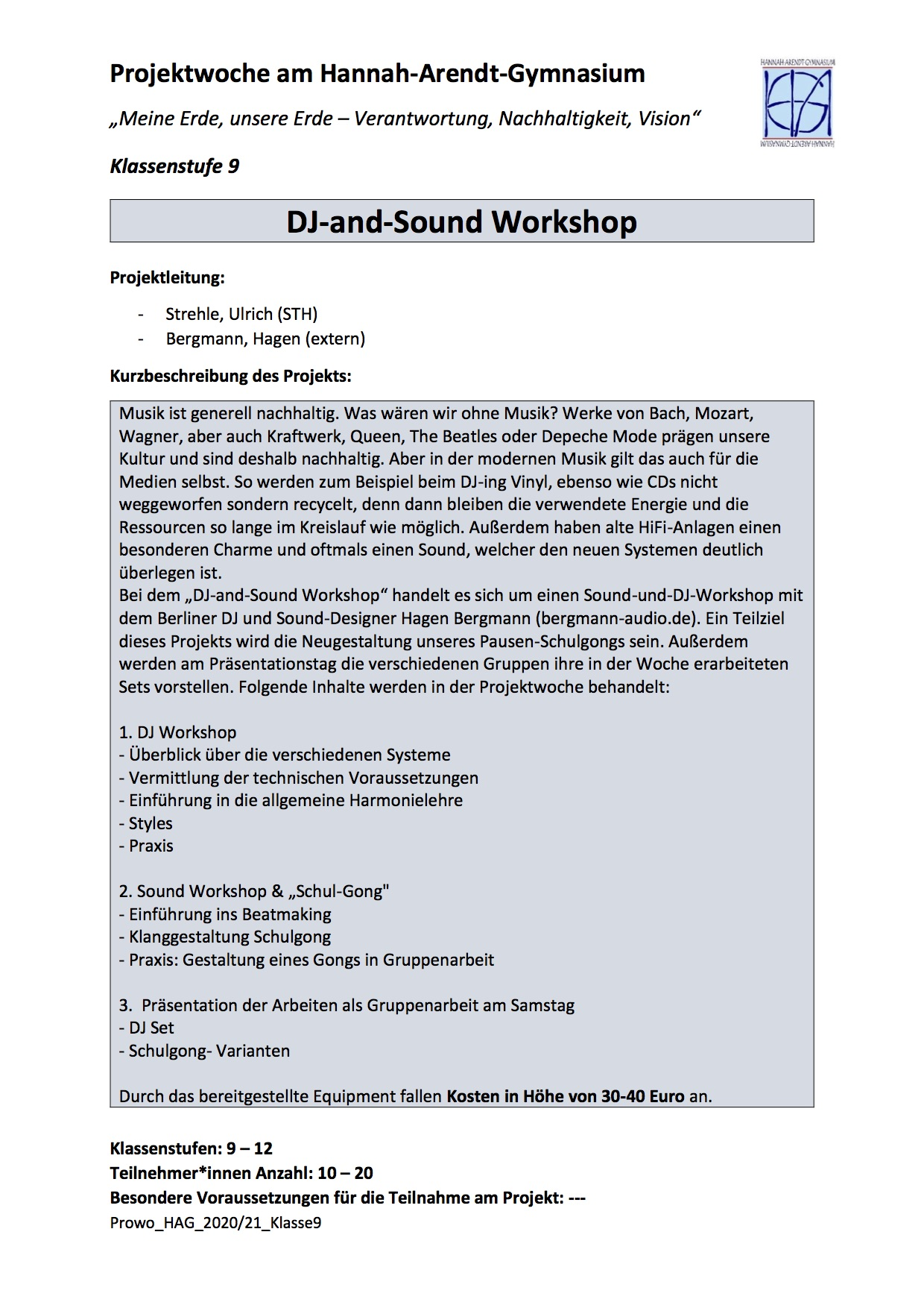 DJ-and-Sound Workshop