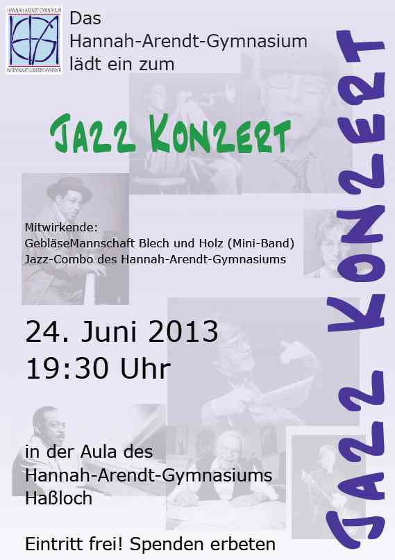 Plakat Big Band Konzert 2013